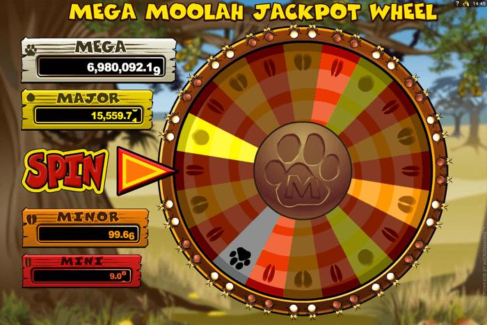 screenshot of Mega Moolah Slot Game