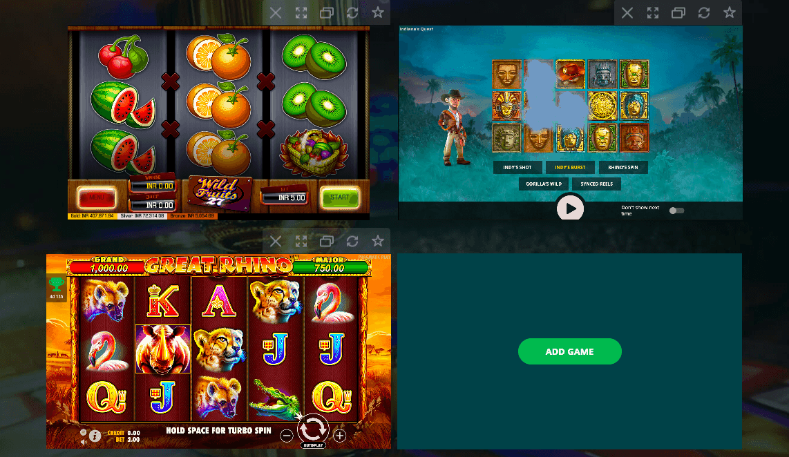 screenshot of the slot game lobby at 22bet Casino