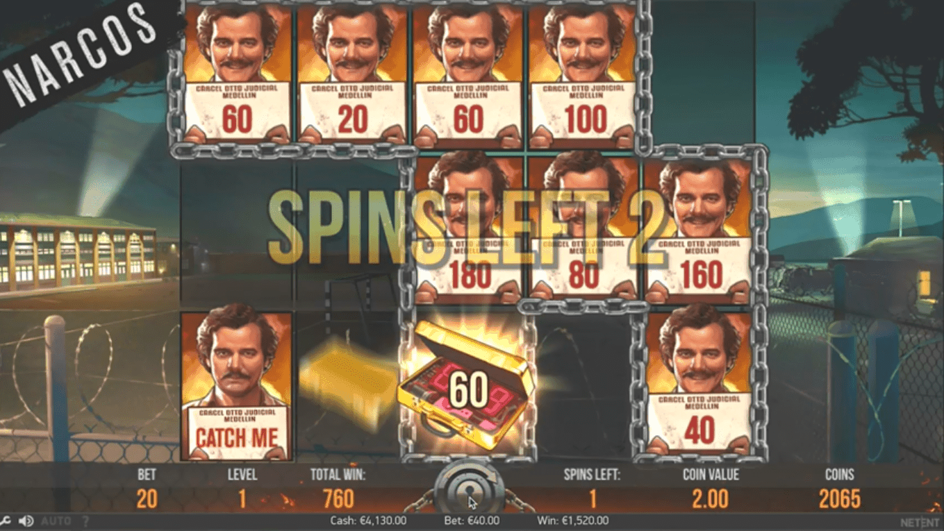 screenshot of earn points at Narcos