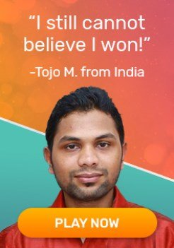 Tojo from India won in the lottery by Lotto247.