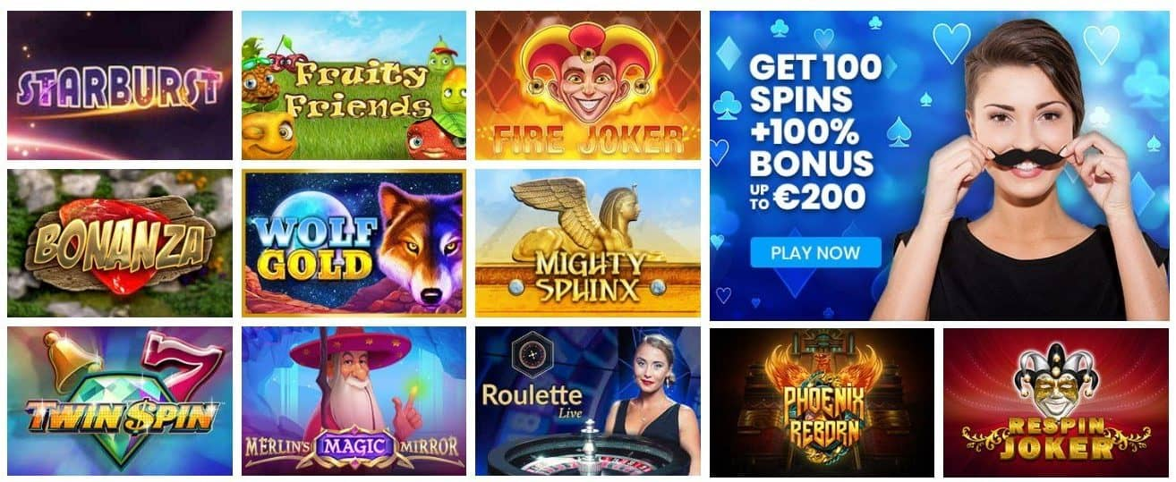 screenshot of the casino games at Mr. Play