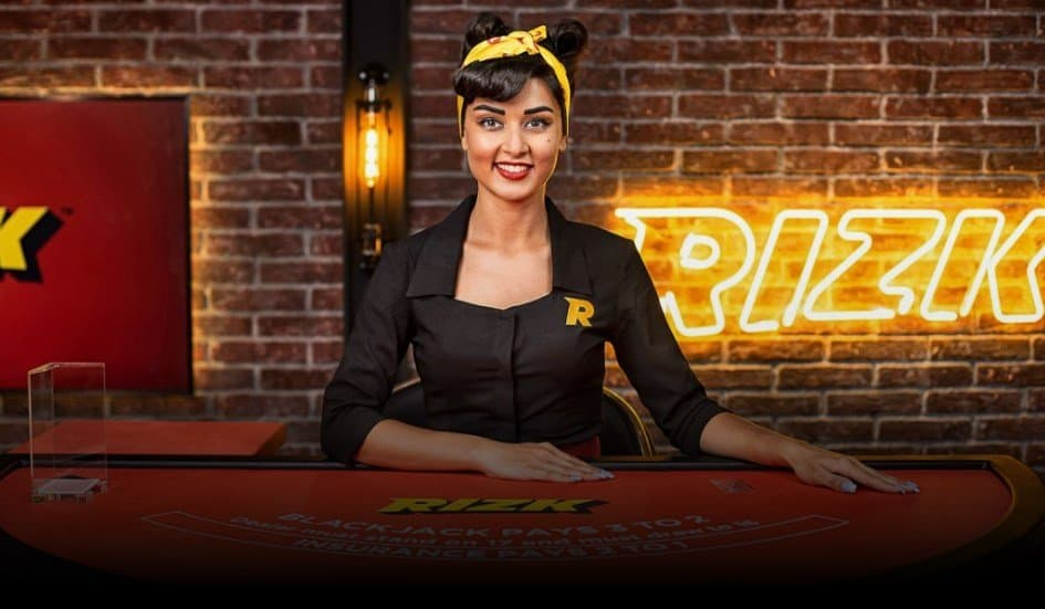 screenshot of the live casino games at rizk