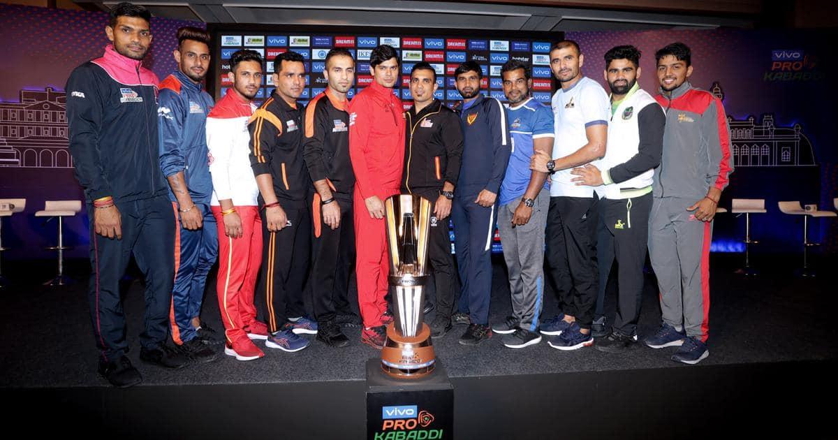 Teams playing in Pro Kabaddi League 2019.