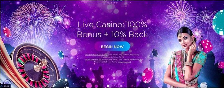 screenshot of Genesis Casino's homepage