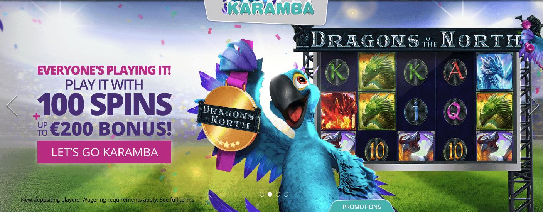 screenshot of Karamba Casino