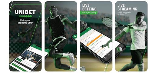 screenshot of mobile app at unibet Casino