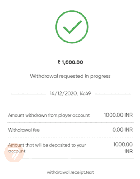 screenshot step 4 how to withdraw