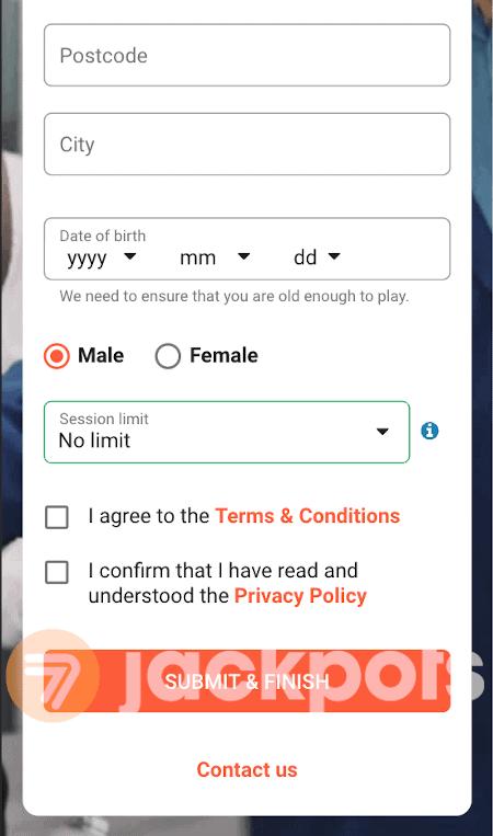 screenshot of step 5.2 registration