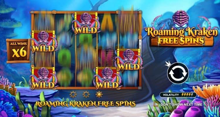 screenshot of kraken free spins