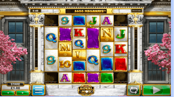 Screenshot of Royal Mint Megaways slot game