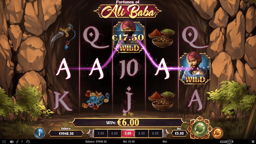 Screenshot of Fortunes of ali baba slot game