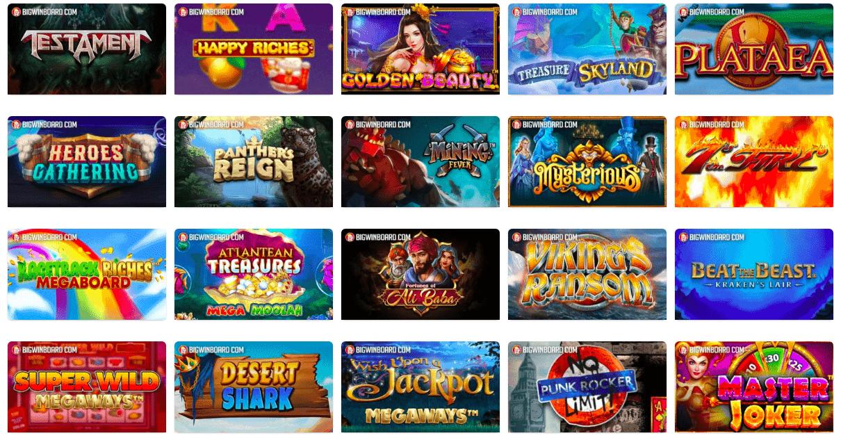 screenshot of best slots in 2020