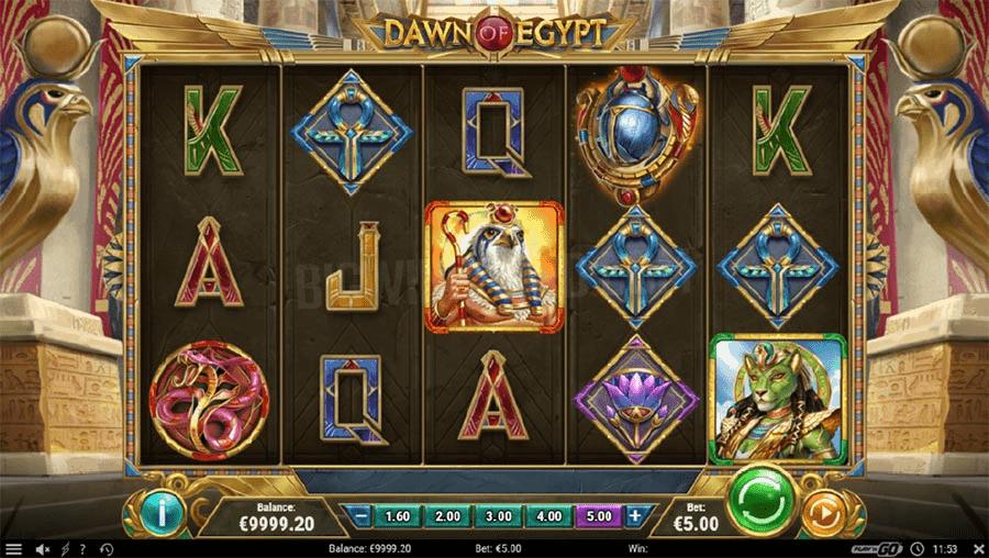 Screenshot of dawn of Egypt Slot Game