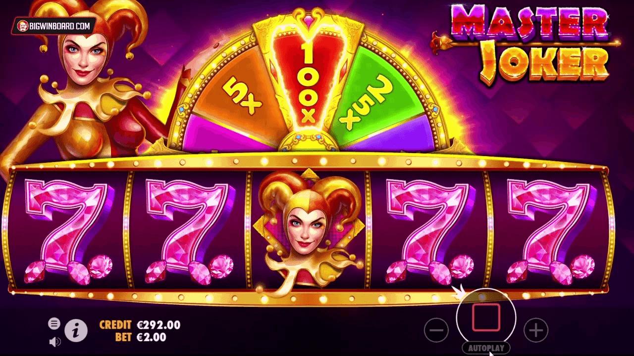Screenshot of Master Joker Slot Game