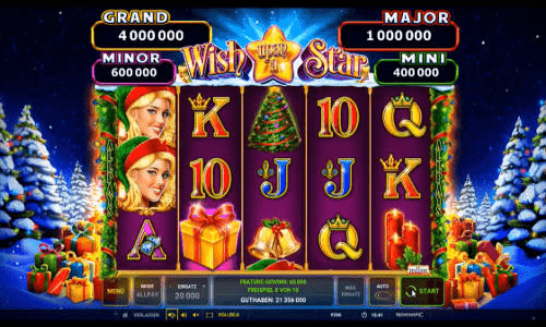 Screenshot of Wish upon a star Megaways slot game