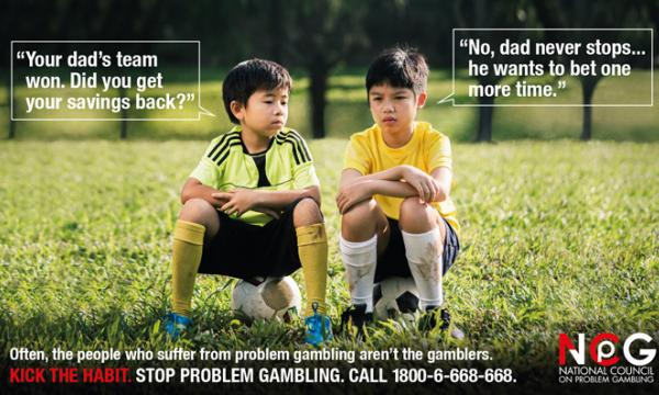 National Council on Problem Gambling ad