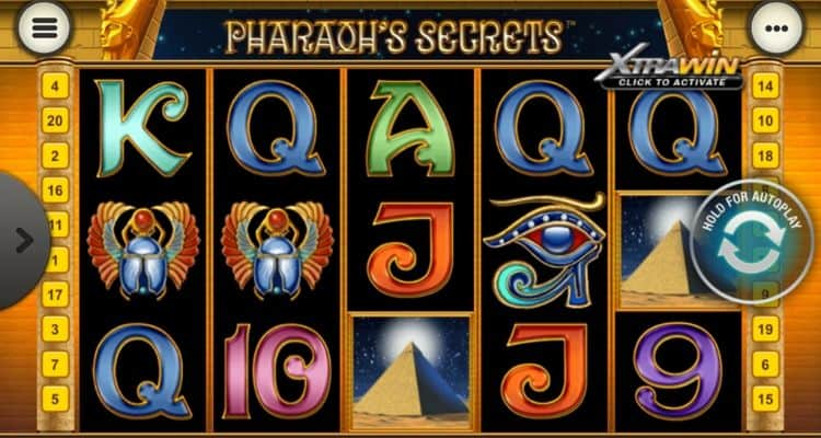 screenshot of Pharaoh's Secrets
