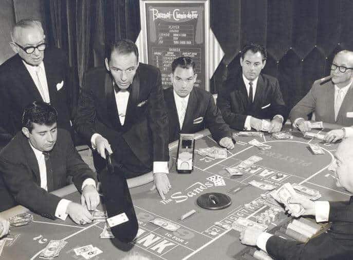 Black and white photo of baccarat