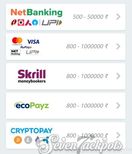 Screenshot of deposit step 3