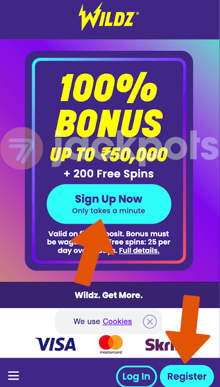 screenshot step 1 how to sign up