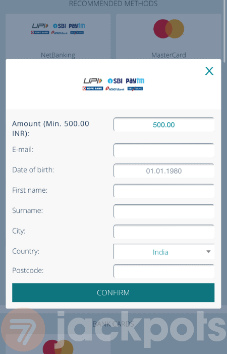 screenshot step 4 how to deposit