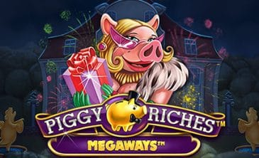 Logo for Piggy Riches Megaways slot by NetEnt
