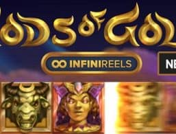 Logo for Gods of Gold Slot by NetEnt