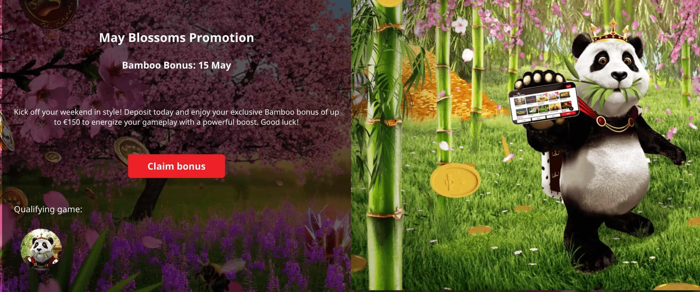 Screenshot of Royal Panda May Blossoms promotion page