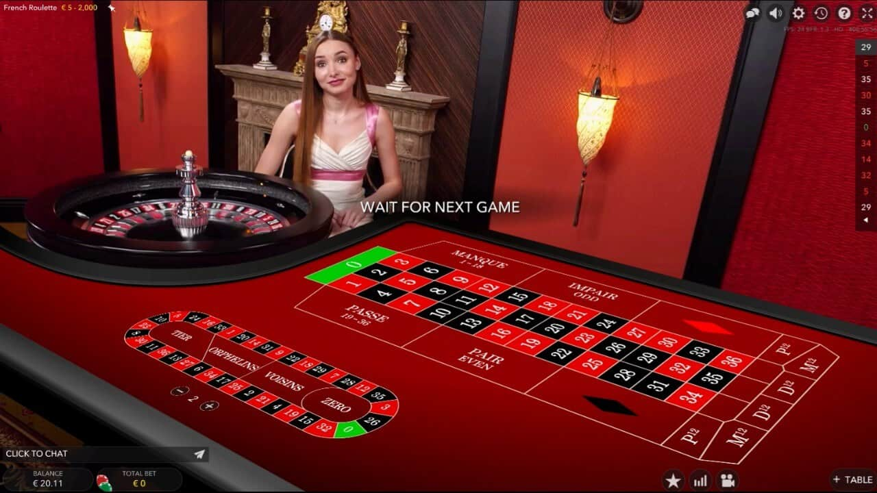 French roulette table screenshot 2020
