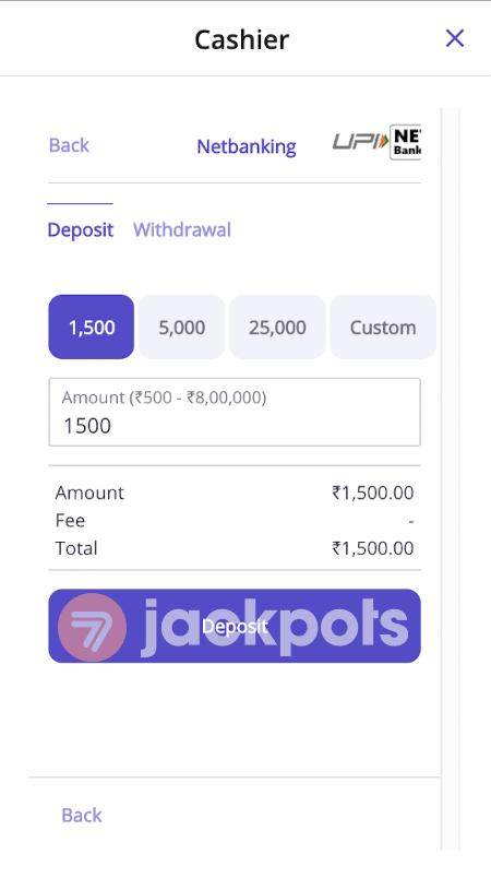 screenshot step 3 how to deposit