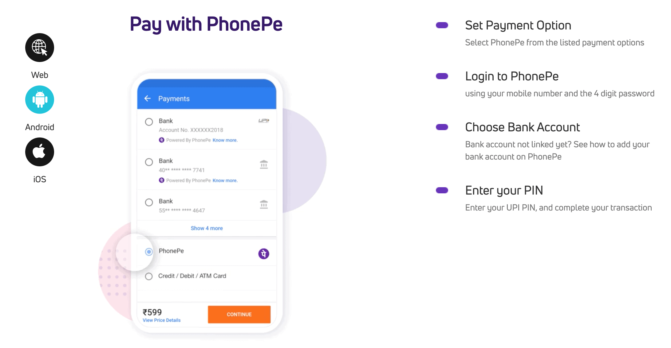 screenshot of how to use PhonePe on Android devices