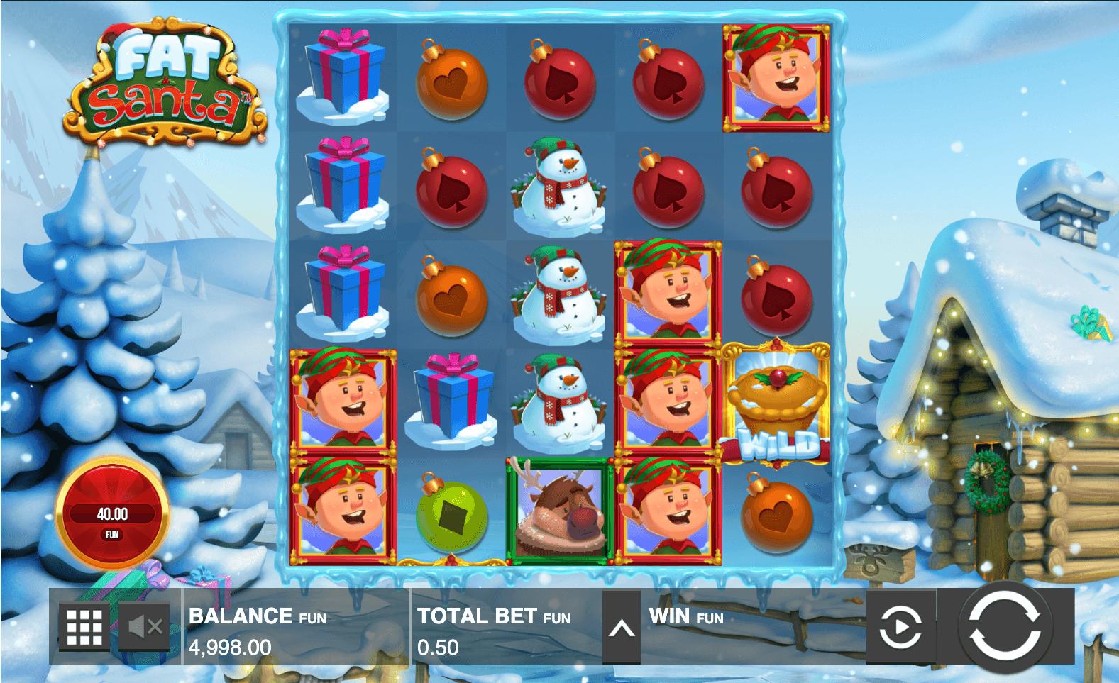 screenshot of Fat Santa Push Gaming slot