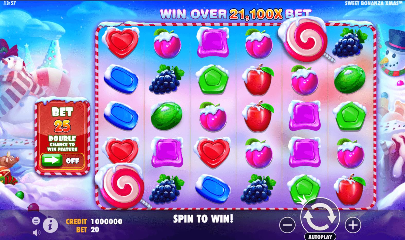 Screenshot from Sweet Bonanza Xmas Pragmatic Play slot