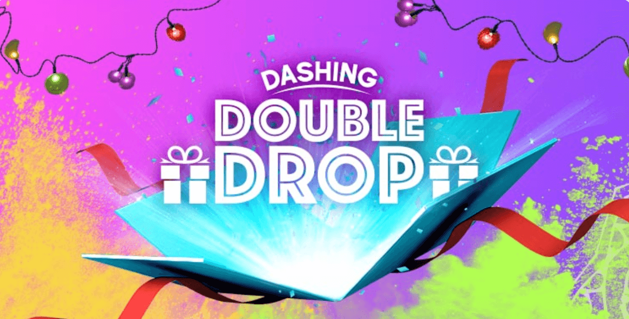 screenshot of dashing double drop promotion at 10cric