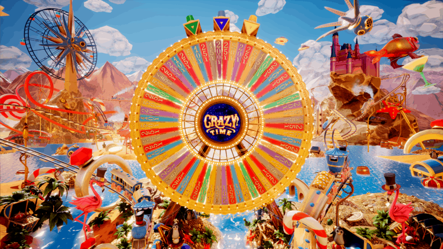 photo of the Crazy Time bonus game in Crazy Time