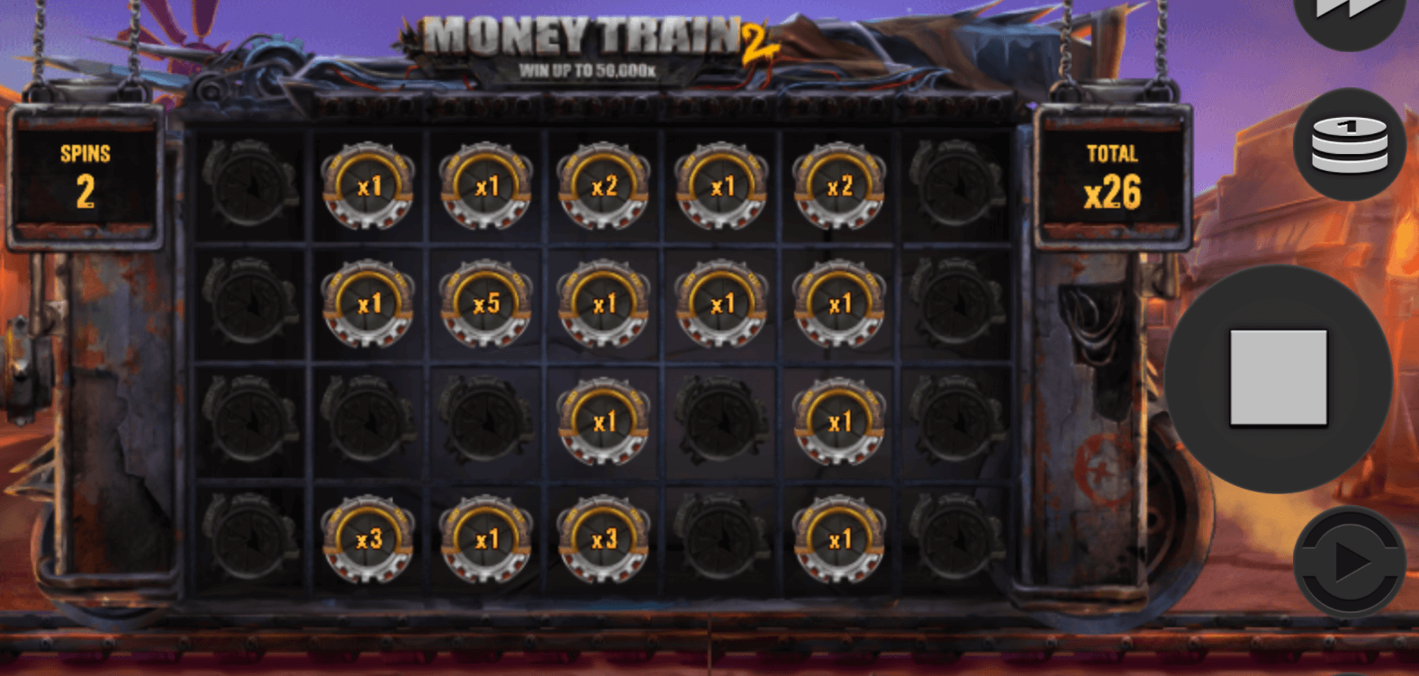 Money Train 2 slot bonus round screenshot