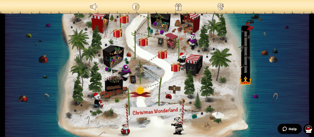 screenshot of the Royal Panda Christmas promotion page