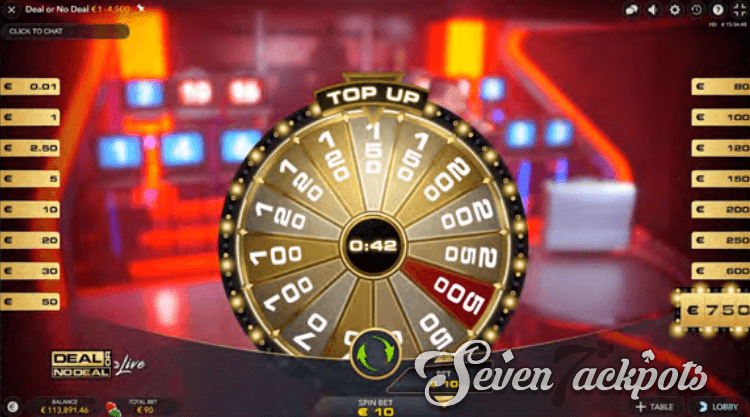 Deal or No Deal top-up step
