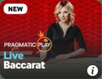 screenshot of live baccarat