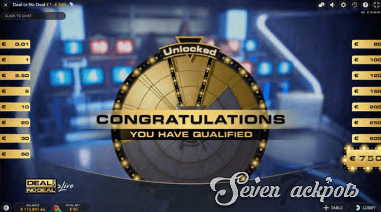 Deal or No Deal qualification step