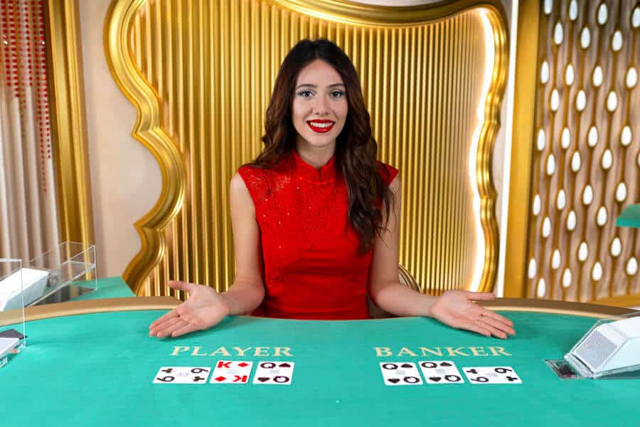Speed baccarat dealer with cards