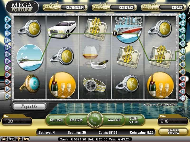 mega fortune slot india