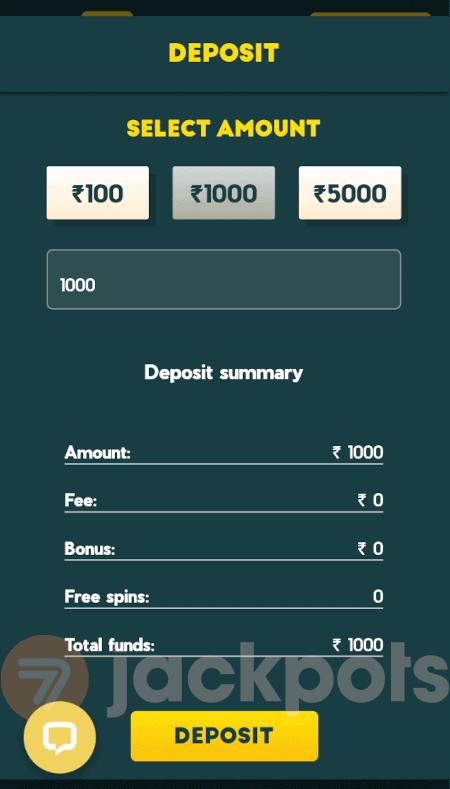 screenshot how to deposit step 3