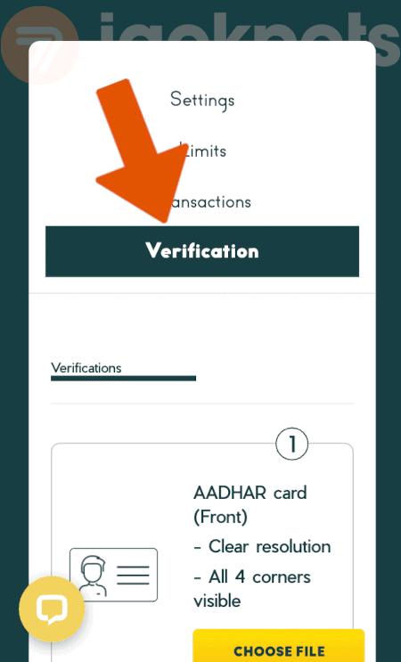 screenshot how to verify account step 3