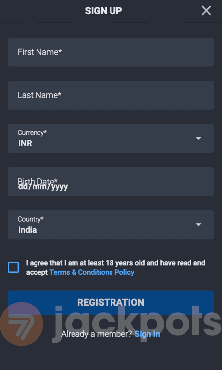 screenshot how to sign up step 3