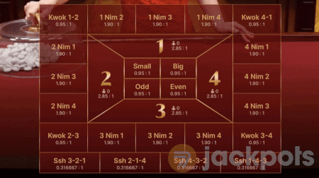 screenshot of advanced game view bets