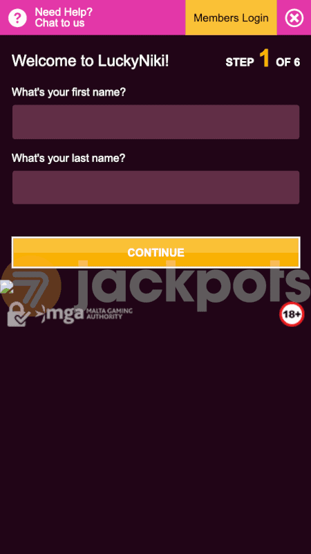 screenshot how to sign up step 2