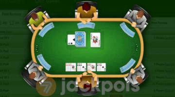 screenshot of online rummy table